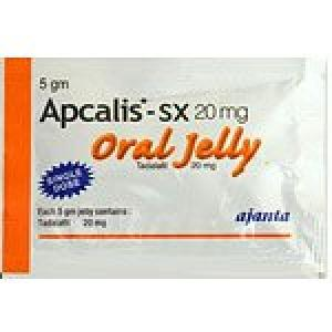 Apcalis SX Oral Jelly - Orange - Tadalafil - Ajanta Pharma, India