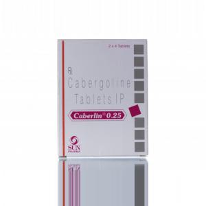 Caberlin 0.25 mg  - Cabergoline - Sun Pharma, India